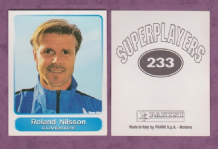 Coventry City Roland Nilsson Sweden 233